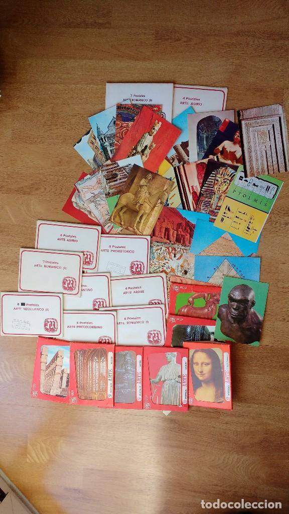 LOTE POSTALES ARTE ROMÁNICO ASIRIO EGIPCIO..... (Postales - Postales Temáticas - Arte)