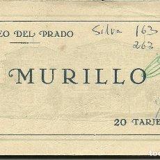 Postales: 20 POSTALES ESPAÑA ,EN CUADERNILLO CON PROTECTORES INTERIORES DE PINTURAS DE MURILLO DEL PRADO. Lote 110839695