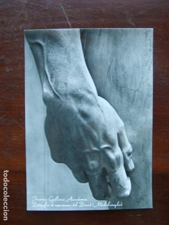 MIGUEL ANGEL MICHELANGELO DETALLE AMNO DAVID GALERIA DE LA ACADEMAIA FLORENCIA POSTAL FOTOGRAFIA (Postales - Postales Temáticas - Arte)