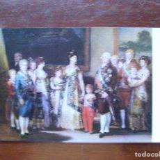 Postales: GOYA LA FAMILIA DE CARLOS IV MUSEO DEL PRADO POSTAL. Lote 111867583