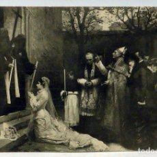 Cartes Postales: POSTAL CUADRO MUSÉE DIJON J ROUGERON UNE PRISE D HABIT AUX CARMÉLITES SIN CIRCULAR. Lote 111883819