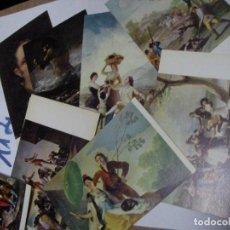 Postales: ANTIGUO LOTE POSTALES MUSEO DEL PRADO - GOYA. Lote 112060575