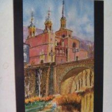 Postales: POSTAL CUENCA EN EL ARTE , ACUARELA DE PORRAS ARRIBAS : IGLESIA DE SAN ANTON. Lote 112481475