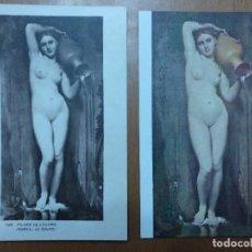 Postales: DOS POSTALES INGRES EL MANANTIAL ESCUELA FRANCESA MUSEO DEL LOUVRE (PARIS) SIN CIRCULAR. Lote 113683815
