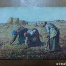 Postales: POSTAL MILLET LAS ESPIGADORAS ESCUELA FRANCESA MUSEO DEL LOUVRE (PARIS) SIN CIRCULAR. Lote 113684027