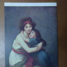 Postales: POSTAL LEBRUN RETRATO DE MME VIGEE LEBRUN Y SU HIJA MUSEO DEL LOUVRE ESCUELA FRANCESA. Lote 113684183