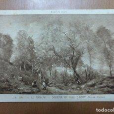 Postales: POSTAL COROT LA CATALPA SOUVENIR OF VILLE D'AVRAY MUSEO DEL LOUVRE (PARIS). Lote 113684299