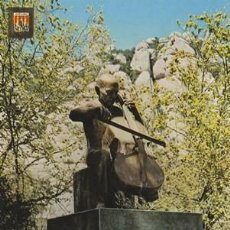 Postales: MONTSERRAT - MONUMENT A PAU CASALS - Nº 114 - ESCUDO DE ORO - AÑO 1977 - NUEVA. Lote 139099894