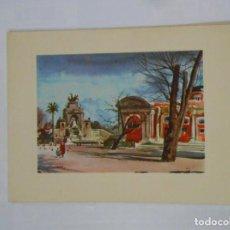 Postales: POSTAL ACUARELA DE F. LLOVERAS. BARCELONA. PARQUE DE LA CIUDADELA. TDKP1. Lote 114006635