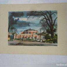 Postales: POSTAL ACUARELA DE F. LLOVERAS. BARCELONA. PARQUE DE LA CIUDADELA. TDKP1. Lote 114006683