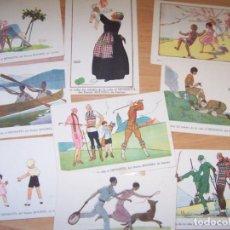 Postales: COLECCION POSTALES (9) ESTILO ART-DECÓ, DIBUJO DE MAGGIE SALZEDO. Lote 114168871