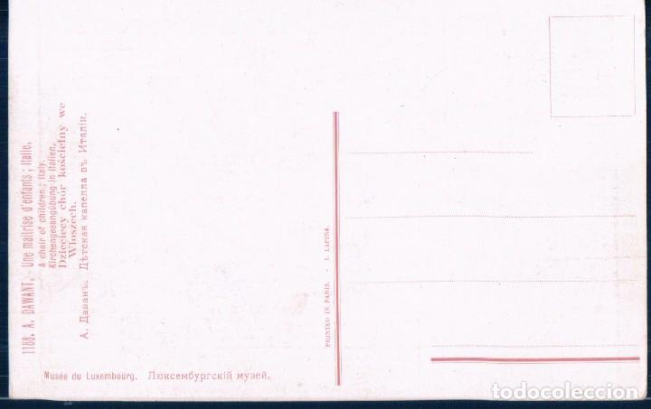 Postales: POSTAL A DAWANT - UNE MAITRISE DENFANTS - ITALIE - MUSEE DU LUXEMBOURG - MUSEO DE LUXEMBURGO - Foto 2 - 115169623