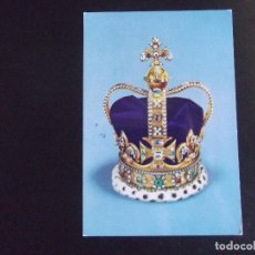 Postales: MUSEOS-V4-ST.EDWARD'S CROWN(THE CROWN OF ENGLAND. Lote 115282347