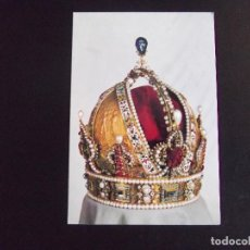Postales: MUSEOS-V4-KUNSTHISTORISCHES MUSEUM-WIEN-THE CROWN OF EMPEROR RUDOLF II THE IMPERIAL CROWN OF AUSTRIA. Lote 115283519