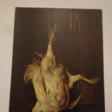 Postales: FOTO POSTAL AÑOS 80, M.PRADO. METSU,PINTURA GALLO MUERTO. Lote 116491424