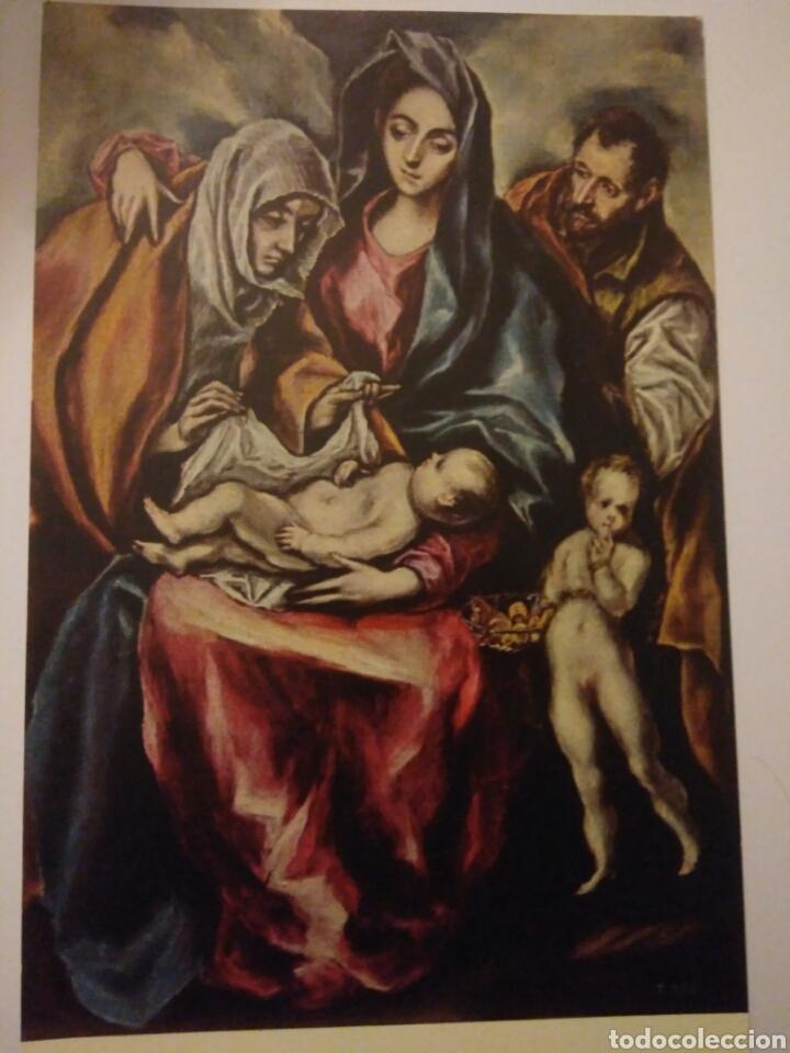 FOTO POSTAL ANTIGUA PINTOR GRECO MUSEO PRADO.PINTURA SAGRADA FAMILIA ,826 (Postales - Postales Temáticas - Arte)