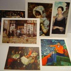 Postales: LOTE DE 6 LÁMINAS PINACOTECAS ESPAÑOLAS - LABORATORIOS HOSBON 1966 - 1967. Lote 116774071