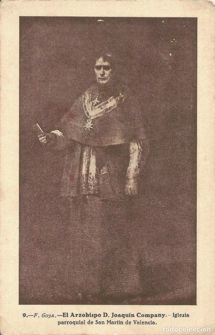 POSTAL OBRA DE F.GOYA, EL ARZOBISPO D. JOAQUIN COMPANY, IGLESIA PARROQUIAL DE SAN MARTÍN DE VALENCIA (Postales - Postales Temáticas - Arte)