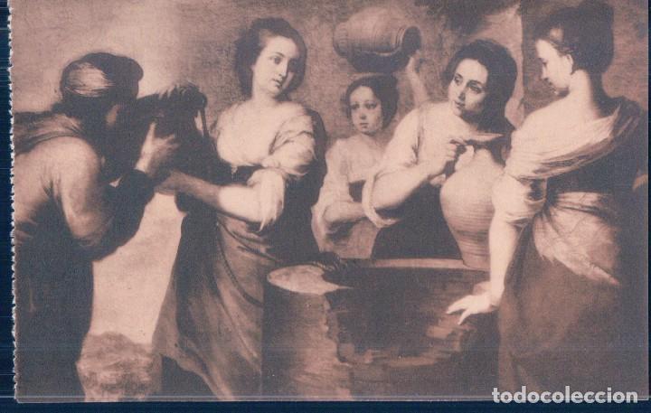 POSTAL MURILLO - REBECA Y ELIEZER - MUSEO DEL PRADO - FOTOTIPIA HAUSER Y MENET (Postales - Postales Temáticas - Arte)