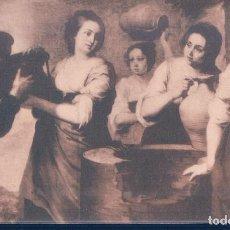 Postales: POSTAL MURILLO - REBECA Y ELIEZER - MUSEO DEL PRADO - FOTOTIPIA HAUSER Y MENET. Lote 118933699