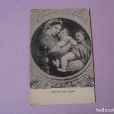 Postales: POSTAL DE MADONNA DELLA SEGGIOLA. GALERIA PITTI. FLORENCIA. CIRCULADA 1912.. Lote 118953743