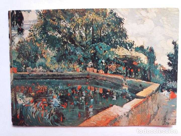 TARJETA POSTALES - ESTANQUE JOAQUIM MIR TRINXET - MUSEO ESTRADA - ESPLUGAS (Postales - Postales Temáticas - Arte)