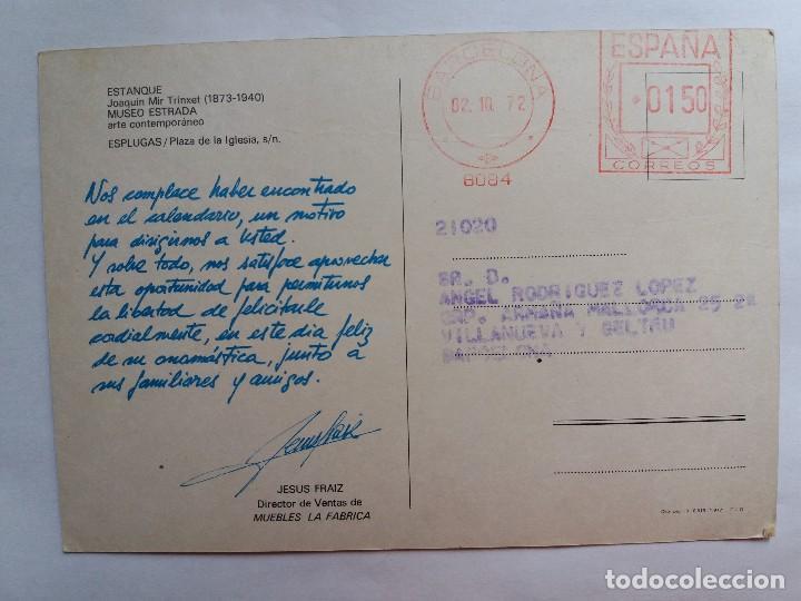 Postales: TARJETA POSTALES - ESTANQUE JOAQUIM MIR TRINXET - MUSEO ESTRADA - ESPLUGAS - Foto 2 - 119125871