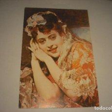 Postales: MADRAZO , LA MODELO ALINE MASSON CON MANTILLA BLANCA ., SIN CIRCULAR. Lote 120543671