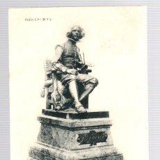 Postales: TARJETA POSTAL ANICETO MARINAS. ESTATUA DE VELAZQUEZ. SERIE 1ª. Nº 9. FOT. LAURENT. AÑO 1902. Lote 121717438