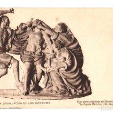 Postales: TARJETA POSTAL SALCILLO. LA DEGOLLACION DE LOS INOCENTES. Nº 12. HAUSER Y MENET. AÑO 1903. Lote 121718679