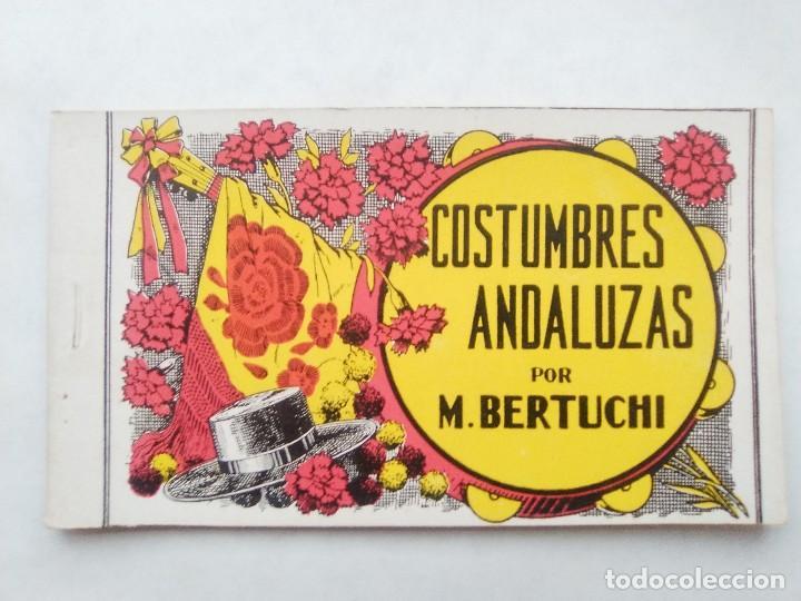 COSTUMBRES ANDALUZAS POR M. BERTUCHI. CARNET Nº 2. 10 POSTALES. JUAN BARGUÑÓ. BARCELONA (Postales - Postales Temáticas - Arte)