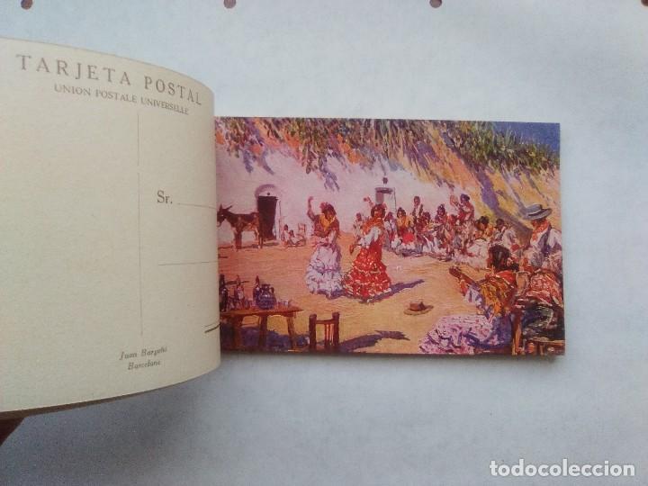 Postales: COSTUMBRES ANDALUZAS POR M. BERTUCHI. CARNET Nº 2. 10 POSTALES. JUAN BARGUÑÓ. BARCELONA - Foto 3 - 122960591