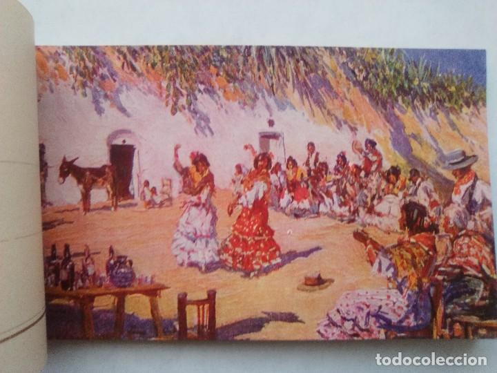 Postales: COSTUMBRES ANDALUZAS POR M. BERTUCHI. CARNET Nº 2. 10 POSTALES. JUAN BARGUÑÓ. BARCELONA - Foto 4 - 122960591