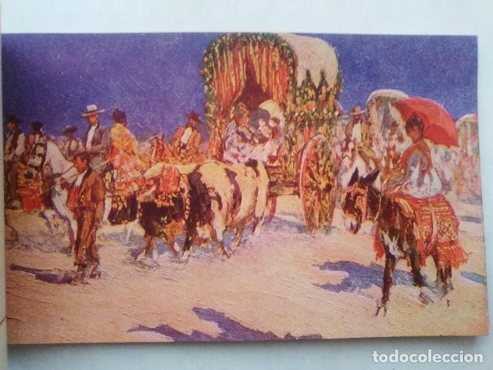 Postales: COSTUMBRES ANDALUZAS POR M. BERTUCHI. CARNET Nº 2. 10 POSTALES. JUAN BARGUÑÓ. BARCELONA - Foto 5 - 122960591