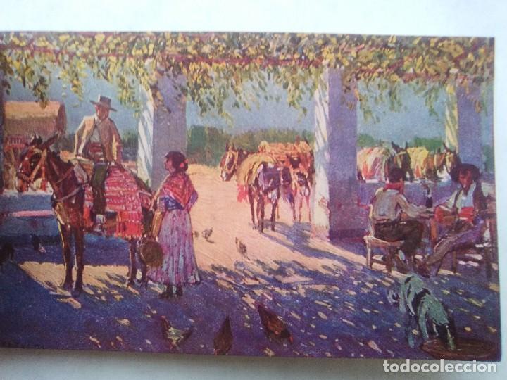Postales: COSTUMBRES ANDALUZAS POR M. BERTUCHI. CARNET Nº 2. 10 POSTALES. JUAN BARGUÑÓ. BARCELONA - Foto 9 - 122960591