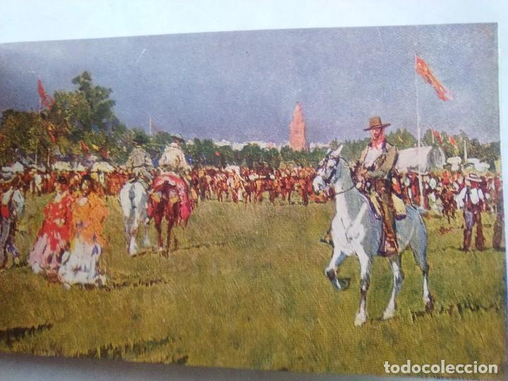 Postales: COSTUMBRES ANDALUZAS POR M. BERTUCHI. CARNET Nº 2. 10 POSTALES. JUAN BARGUÑÓ. BARCELONA - Foto 10 - 122960591