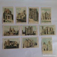 Postales: 10 POSTALES- FICHAS. CATEDRALES FRANCIA. Lote 124508831