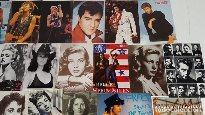 Postales: COLECCIÓN DE 44POSTALES Y FOTOGRAFIAS DE ARTISTAS. VARIAS EDITORIALES. AÑOS 80. - Foto 2 - 124586803