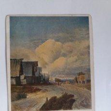 Postales: TARJETA POSTAL ANTIGUA USSR - 1930 NATURALEZA - CUADRO PINTURA - VASILYEV - EL PUEBLO. Lote 124589575