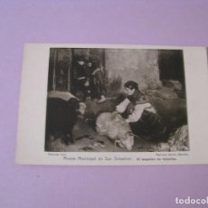 Postales: POSTAL MUSEO MUNICIPAL DE SAN SEBASTIAN. EL ESQUILEO EN ASTURIAS. ED. RESINES FOTO.. Lote 125212111