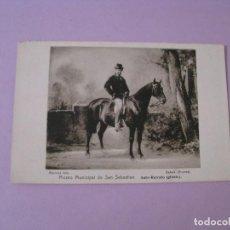 Postales: POSTAL MUSEO MUNICIPAL DE SAN SEBASTIAN. AUTO-RETRATO (GINETE). ED. RESINES FOTO.. Lote 125212159