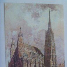Postales: POSTAL DE VIENA ( AUSTRIA ) : CATEDRAL DE SAN ESTEBAN , ACUARELA DE FRANZ KOPALLIK ( 1912 ). Lote 126379603