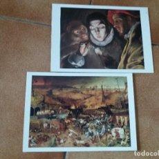 Postales: LOTE DE 2. POSTALES MUSEO DEL PRADO ORIGINALES. EL GRECO Y BRUEGEL EL VIEJO.. Lote 126685159