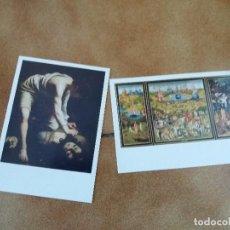 Postales: LOTE DE 2. POSTALES MUSEO DEL PRADO. EL BOSCO, JARDÍN DE LAS DELICIAS Y CARAVAGGIO.. Lote 127484763