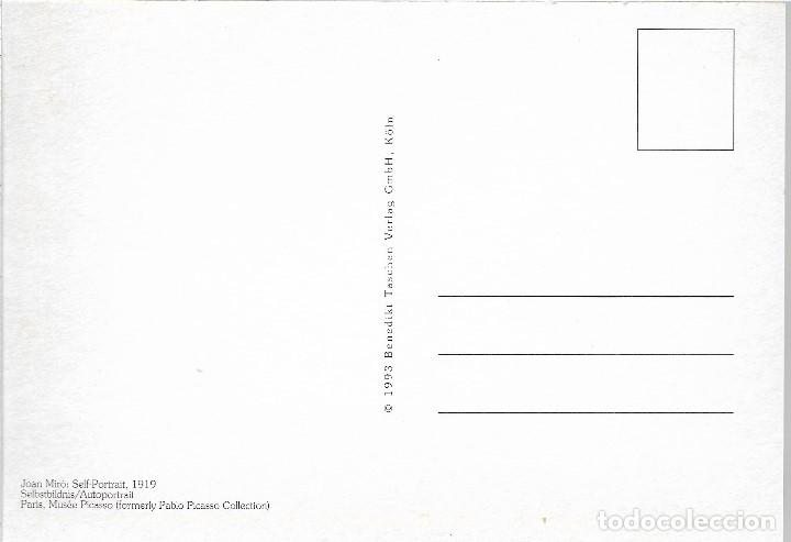 Postales: AUTORRETRATO - 1919 - JOAN MIRO - POSTAL PRINTED GERMANY - AÑO 1993 - Foto 2 - 127554167