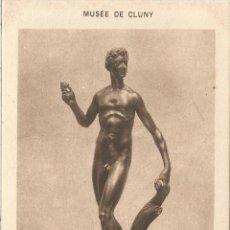Postales: POSTAL ESCULTURA ARTE FRANCÉS (S XVII), ADAN - MUSEO CLUNY - EDIT.H.M. 54 - S/C. Lote 129425955