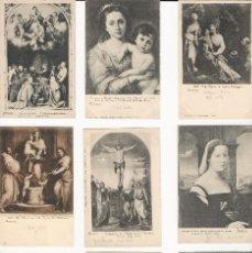 Postales: LOTE 9 POSTALES- FLORENCIA - ARTE - ITALIA - SIN CIRCULAR -. Lote 129525047
