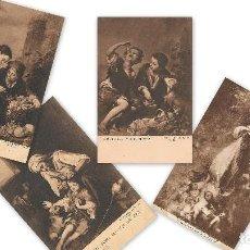 Postales: LOTE 4 POSTALES ANTIGUAS - ARTE ESPAÑOL - MURILLO - SIN CIRCULAR - . Lote 129525335