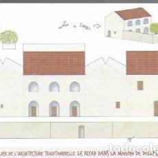 Postales: ATELIER DE L' ARCHITECTURE TRADITIONELLE: LE RIYAD DANS LA MAISON DE DELLYS, ALGÉRIE.. Lote 130092051
