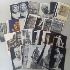 Postales: GRAN LOTE DE 70 TARJETAS POSTALES DE ARTE. TEMATICA DE ESCULTURA.. Lote 131250075
